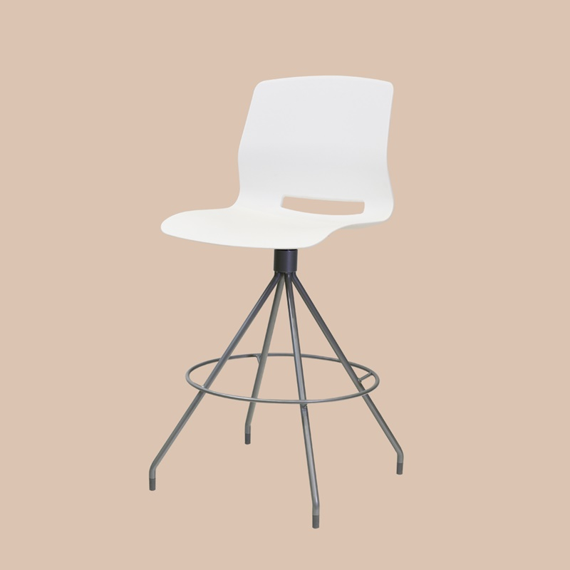 Stool with round footrest 750mm